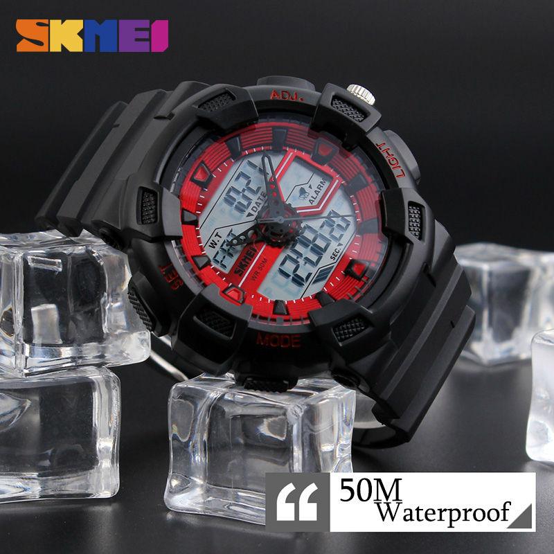 Skmei hombres relojes deportivos al aire libre cronógrafo de moda - Relojes para hombres - foto 5