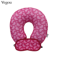Vegou Brand U Shape Pillow Eye Mask Sets Kids Travel Sleeping Body Pillow Filling Foam Cartoon