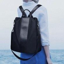 9fd6b2928c393 SHUJIN Kadın Sırt Çantası Çift Kullanım Satchel Sırt Çantası Moda Siyah  omuzdan askili çanta Bolsa Feminina