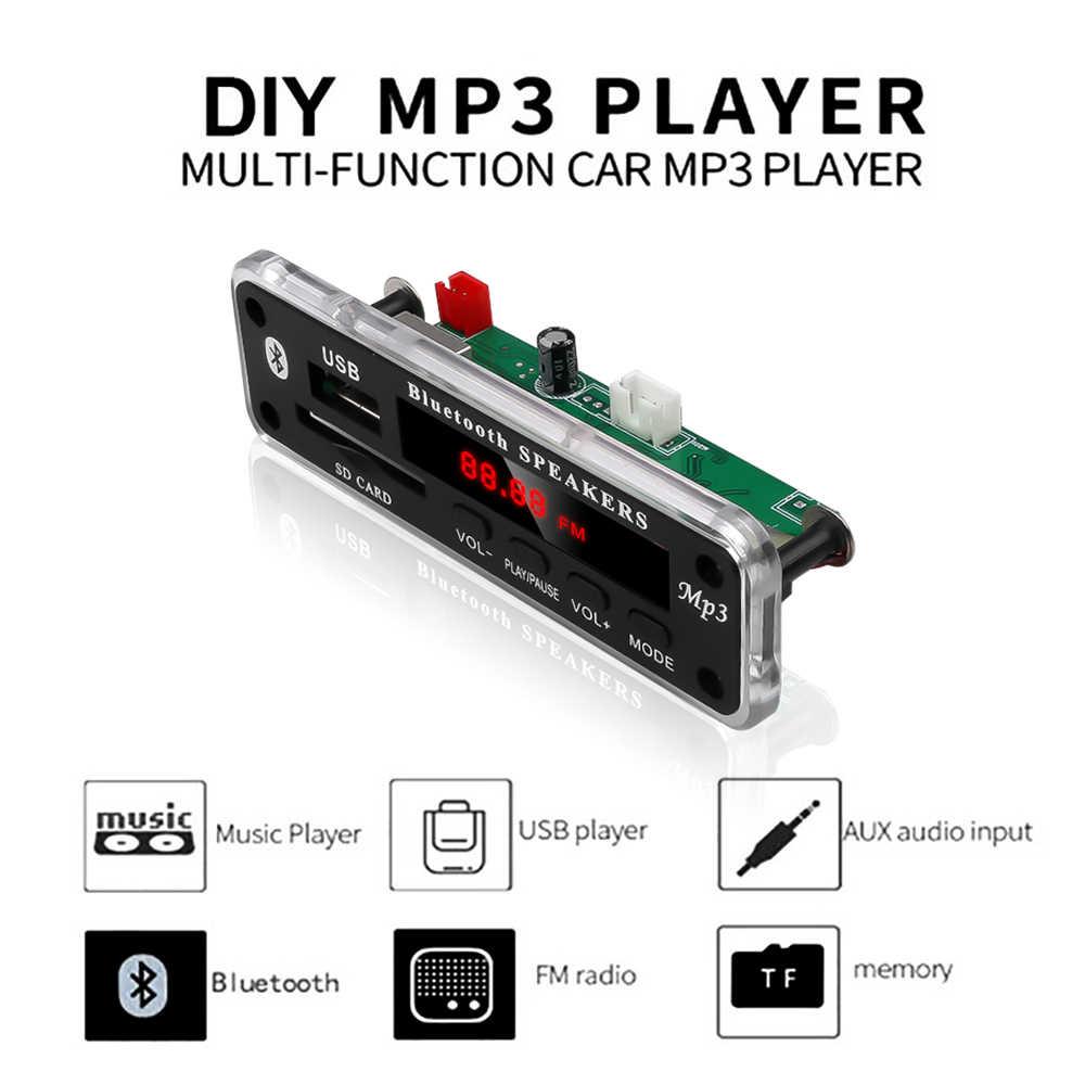 KEBIDU Bluetooth inalámbrico 5V 12V MP3 placa decodificadora WMA Módulo de Audio USB SD AUX FM Radio de Audio para coche accesorios
