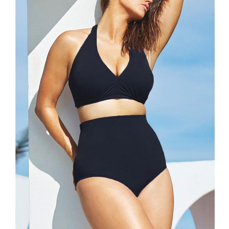2015 Newest Plus Size Swimwear 3XL For Women Summer High Quality Beachwear Padded Bra Super Sexy High Waist Bikini Set