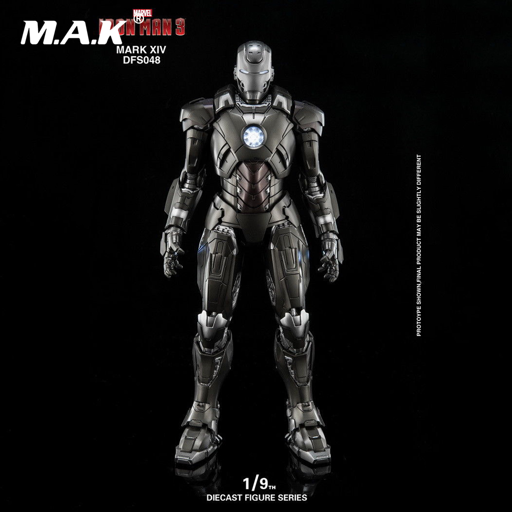 DFS048 1/9 Alloy Movable Iron Man MK14 Mark XIV Figure for Collection GiftDFS048 1/9 Alloy Movable Iron Man MK14 Mark XIV Figure for Collection Gift