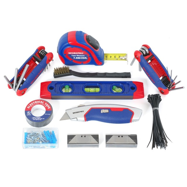 WORKPRO 322PC Tool Set Hand Tools Home Repair Tool With Tool Bag  4