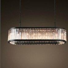 Candelabros ovalados Vintage iluminación LED Prisma de cristal moderno lustres de luz de cristal para decoración de boda de Hotel en casa