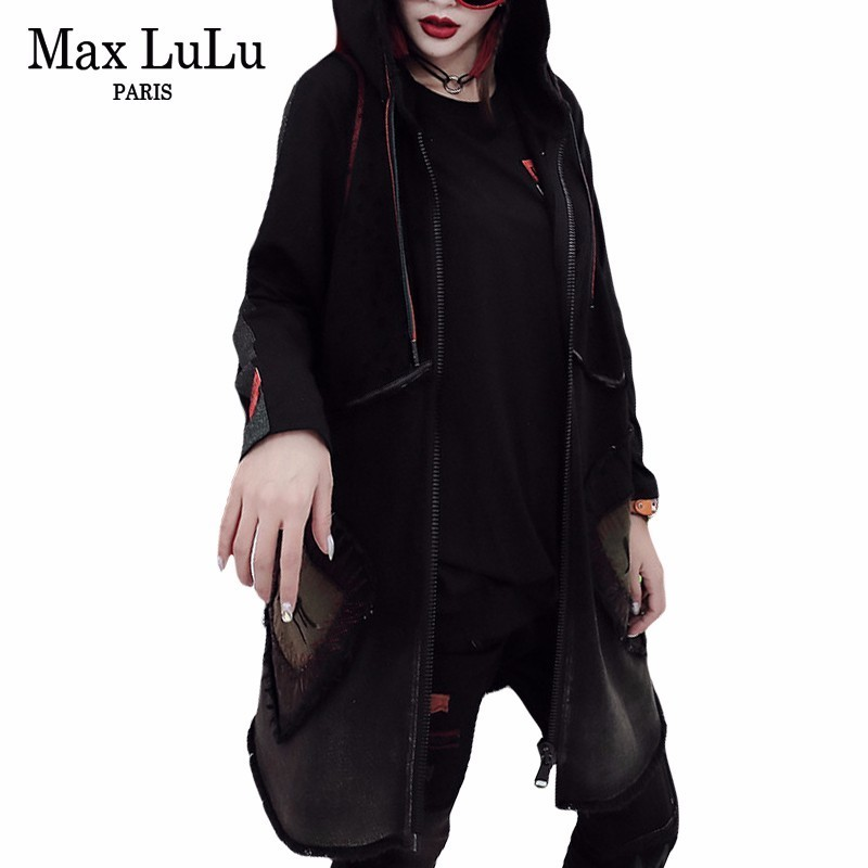 Max LuLu Autumn Fashion Korean Designer Ladies Vintage Streetwear Womens Punk Long Vest Coat Chaleco Mujer
