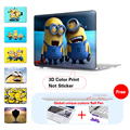 3D Print Pattern For Macbook Air 13.3 Air 11.6 inch Stupid Minions Cover Pro Retina 13 15 inch Case For Mac book New Air 12 inch