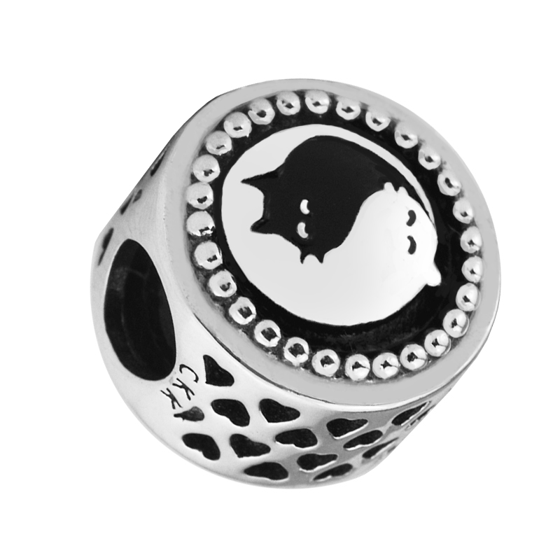 Fit Pandora Bracelets DIY Beads for Jewelry Making Sterling-Silver-Jewelry Yin & Yang Cats Charms Silver 925 Berloque strollgirl car keys 100% sterling silver charm beads fit pandora charms silver 925 original bracelet pendant diy jewelry making