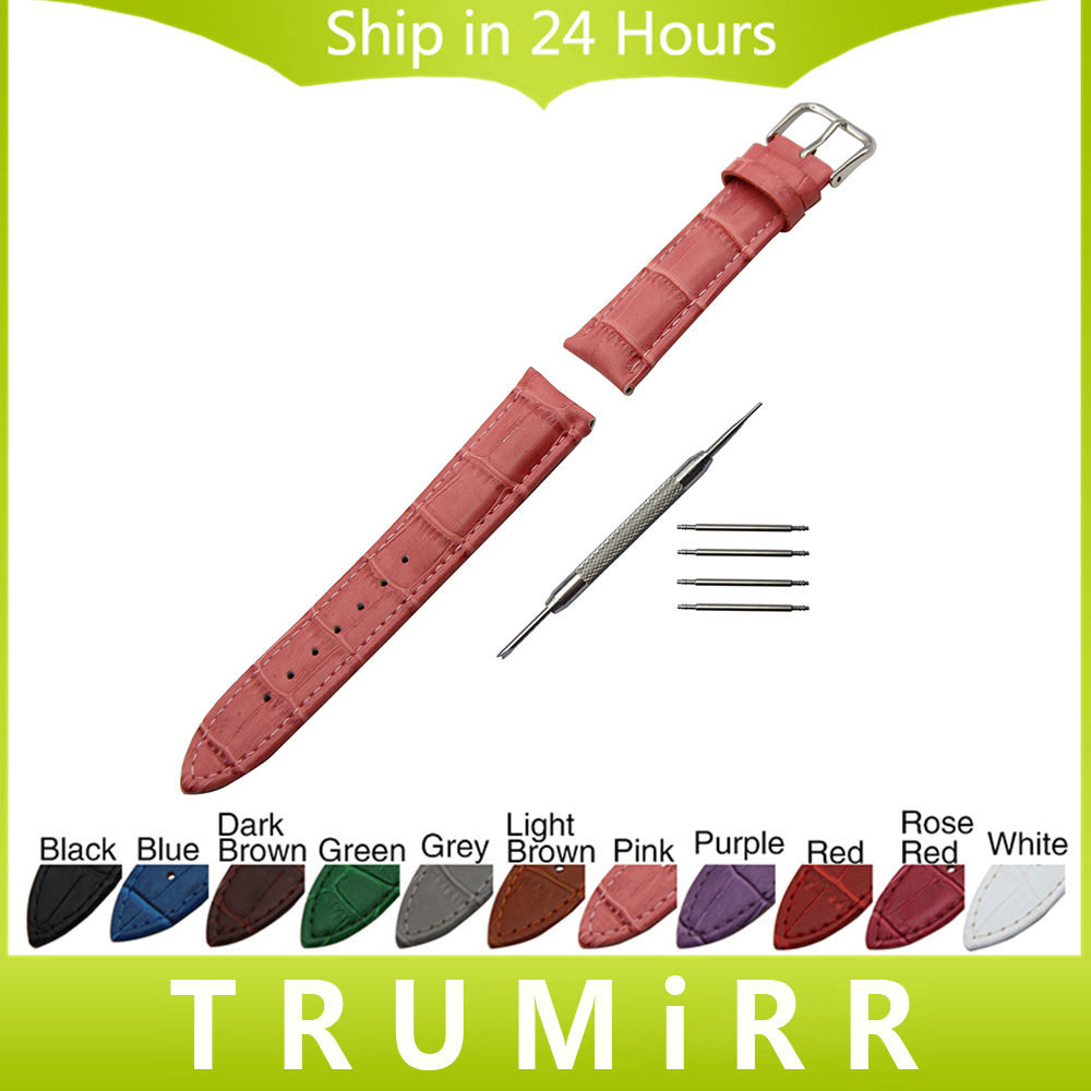 18mm 19mm 20mm Croco Genuine Leather Watchband for DW Daniel Wellington Men Women Watch Band Wrist Strap Bracelet Multi Colors