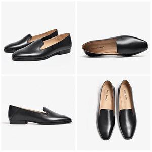 Image 5 - BeauToday Loafers Women Calfskin Leather Brand Square Toe Slip On Lady Flats Top Quality Shoes Handmade 27089