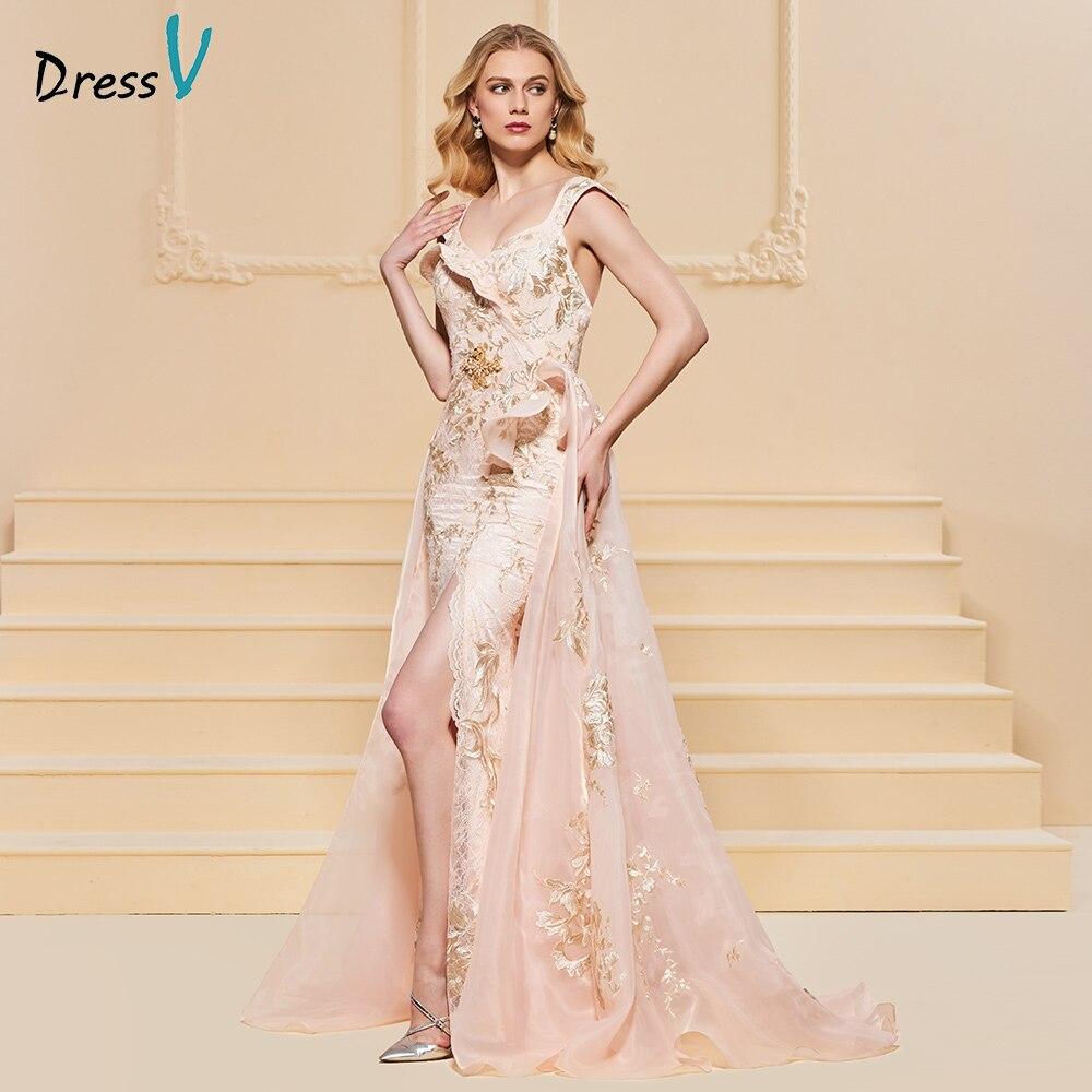053fb2b60c7 Floor Length Split Off The Shoulder Lace Elegant Long Evening Dress ...