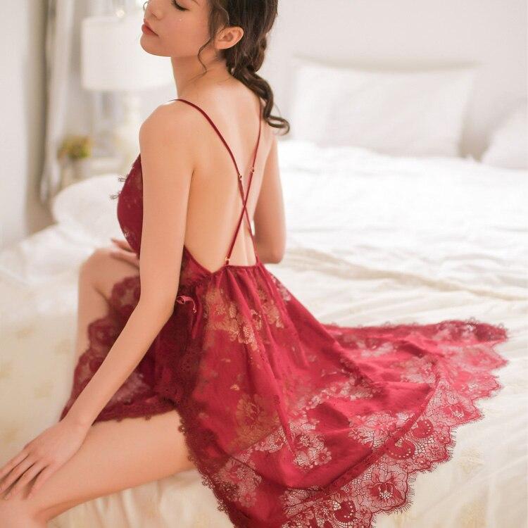 Damen-nachtwäsche Vornehm Sommer Sexy Schlaf Tops Für Frauen Dünne Nachthemd Robe Weiche Schlaf Kleid Nachthemd Nachtwäsche Weibliche Kleidung Pyjamas
