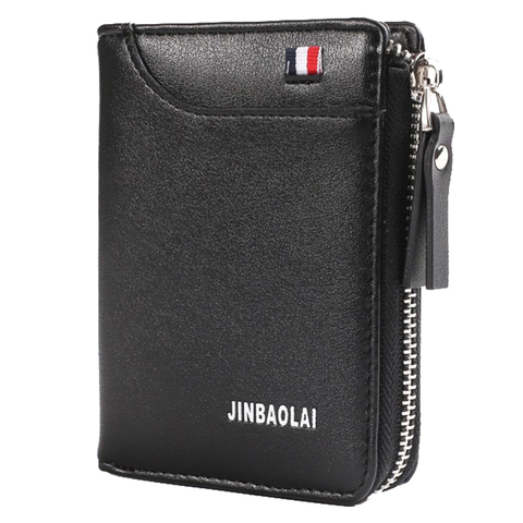 Luxury Brand Men Wallet Leather Credit Card Holder Wallets Zipper Male Coin Pocket Clutch Money Bag Wallets Carteira Masculina Karachi