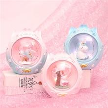 Cartoon Resin LED sakura Unicorn Nightlight Birthday Gift for Girls Childrens Room Decoration Christmas