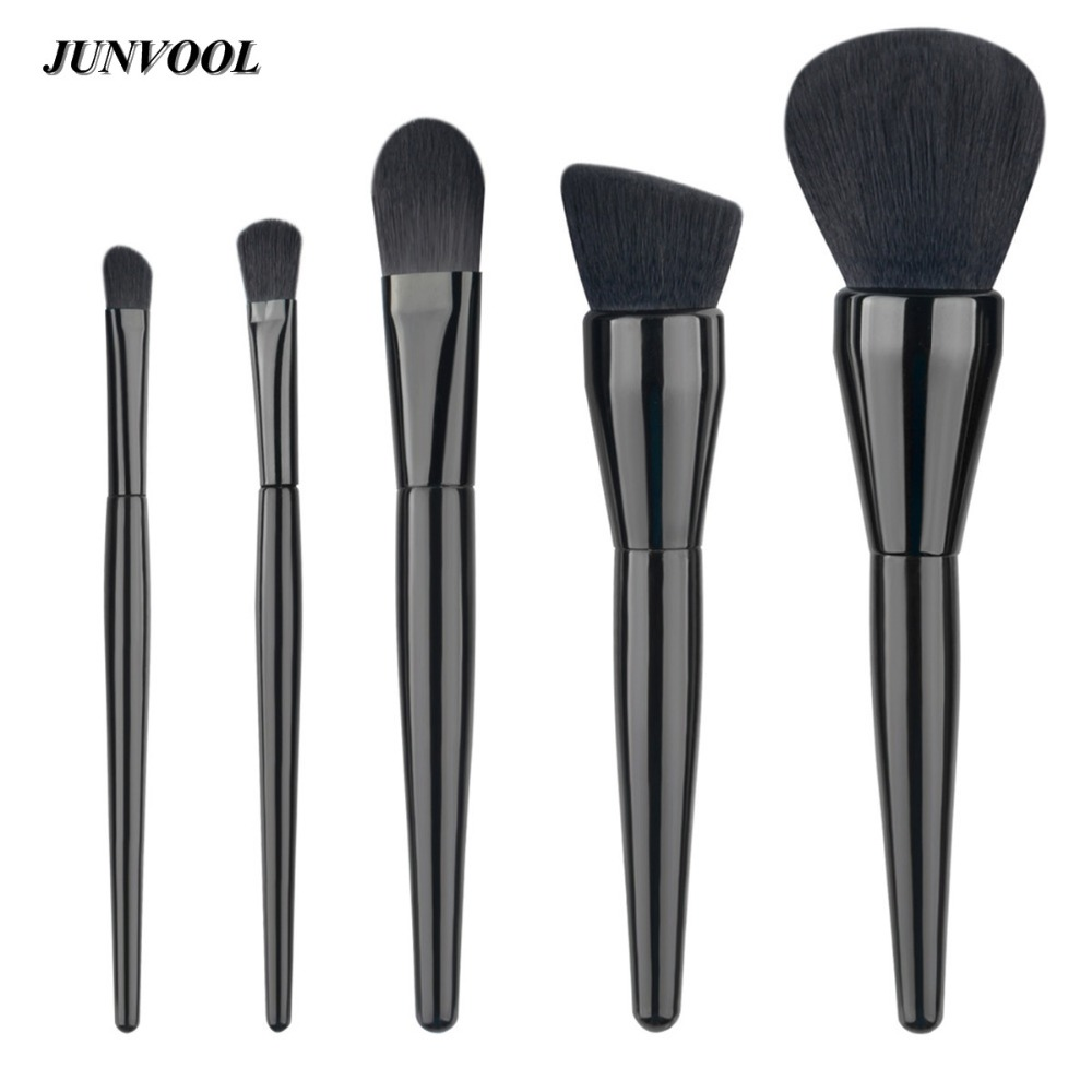 5PCS/Set Black Professional Makeup Brushes Set Tools Make-Up Toiletry Kit Brand Make Up Brush Set Case Cosmetic Foundation Brush new professional 15 pcs makeup brushes set tools make up toiletry kit make up brush set case cosmetic foundation brush
