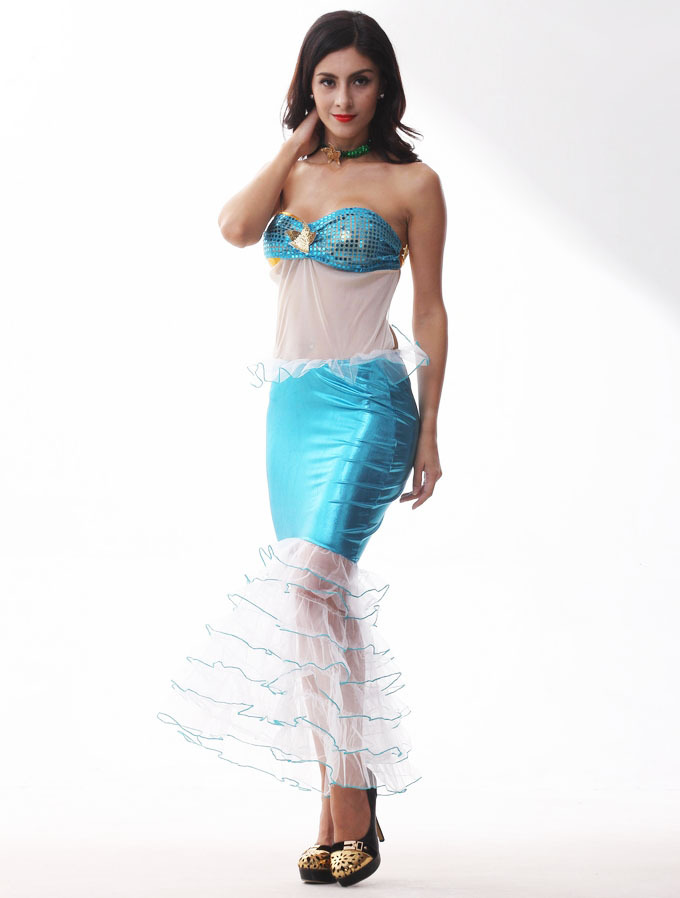 fairy mermaid princess performance costume women halloween party dress summer beach girls one peice swimsuit in dresses from womens clothing accessories