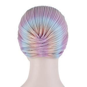 Image 5 - Chapeau écharpe pour la tête plissé femmes