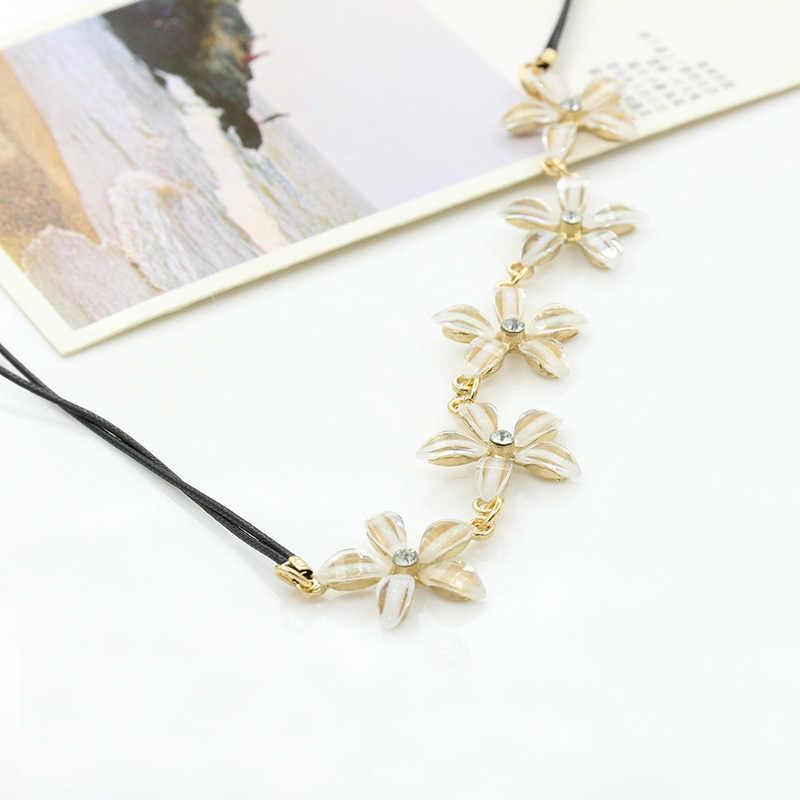 Version coréenne des nouveaux bijoux explosifs mode coréenne collier bijoux gardénia mosaïque femmes collier chaîne