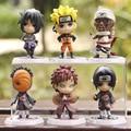 6 Pçs/set Naruto Figura Brinquedos SH Figuarts SHF Figuarts Sasuke Naruto Figuras de Ação Colecionáveis Estatueta Susuke