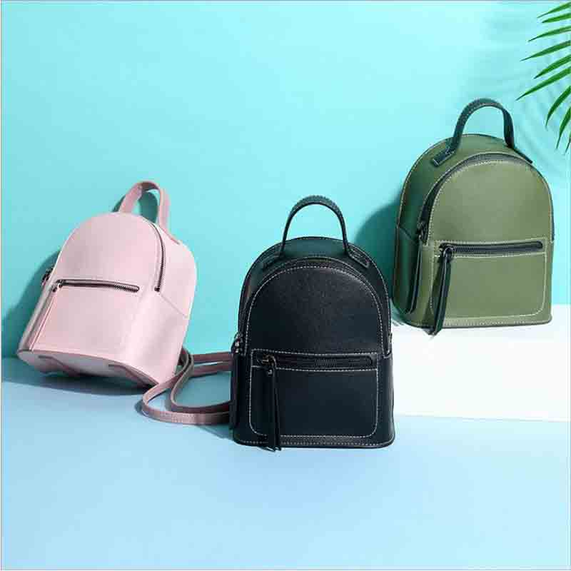 2018 New Fashion Women Backpack Small PU Leather Famous Brand Designer Girls Casual Travel Mini Bag Pack School Bag Mochila
