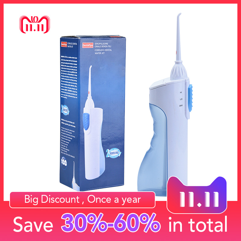 купить Dental Flosser Portable Cordless Oral Irrigator Water Pick Flosser Tooth Pick Water Jet Dental Irrigation For Teeth Remove Decay по цене 954 рублей