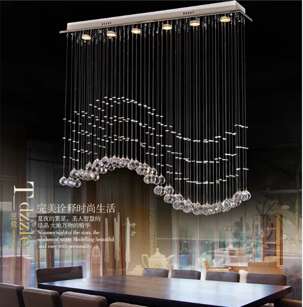 Modern Design LED Curtain Wave K9 Luxury Crystal Ceiling Chandeliers  Contemporary Foyer Lights Lamps Decoration Lighting In Pendant Lights From  Lights ...