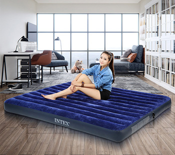 INTEX high quality 2 person use 137*191*22CM comfortable camping inflatable mat with pump
