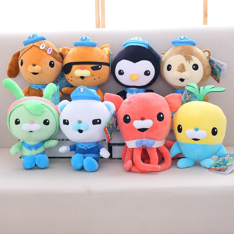 Octonauts kawaii soft doll toy plush buck captain skin doctor child pillow doll Girl doll girlfriend gift kids popular toys 50cm