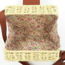 Women Straw Shoulder Beach Bag