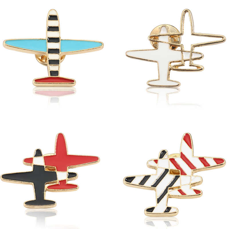 8456c7ddb5 Detail Feedback Questions about Airplane Brooch Shaped Men Women ...