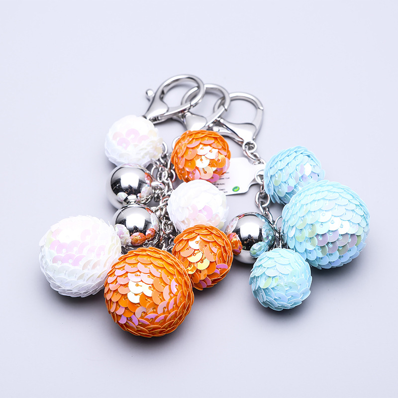 Car Keychain Europe And America Key Pendant Waist Hanging Cute Ball Creative Key Ring Bag Women Accessories Gifts Wholesale in Key Chains from Jewelry Accessories