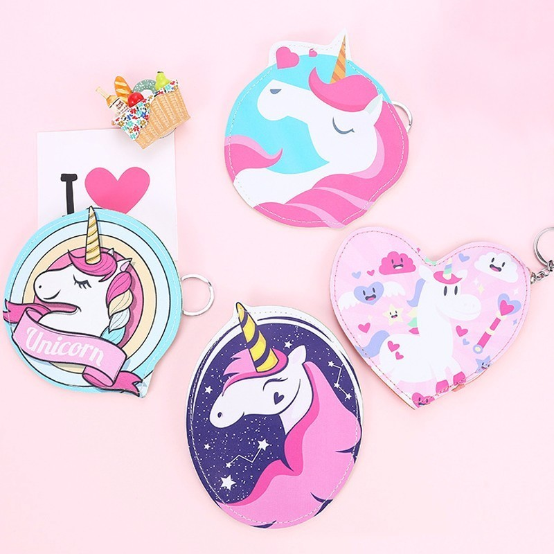 Cartoon Lovely Unicorn Coin Purse Girls Small Mini Change PU Leather Wallet Purse Women Key Wallet Coin Bag Children Kids Gifts new brand mini cute coin purses cheap casual pu leather purse for coins children wallet girls small pouch women bags cb0033