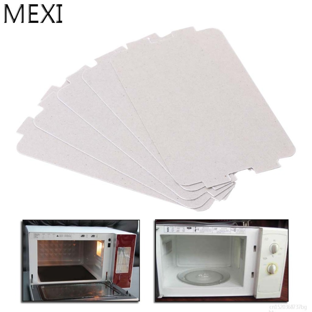 MEXI 5Pcs Microwave Oven Mica Plate Sheet Thick Replacement Part 107x64mm For Media MP17C-KE PJ17C-M1 MP17C-KL MP17C-KA