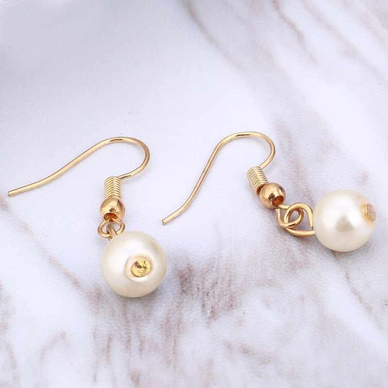 Classic Imitazione Perla Oro/Argento Placcato l'insieme dei monili per le donne Del Partito di Cristallo di Modo del Regalo Collana Orecchini Bracciali set