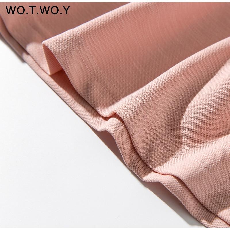 Long T-shirt Dresses Women Summer Sashes Waist Slit Casual O-Neck Short Sleeve Loose Ankle-Length Dress Woman Pink Cotton 24