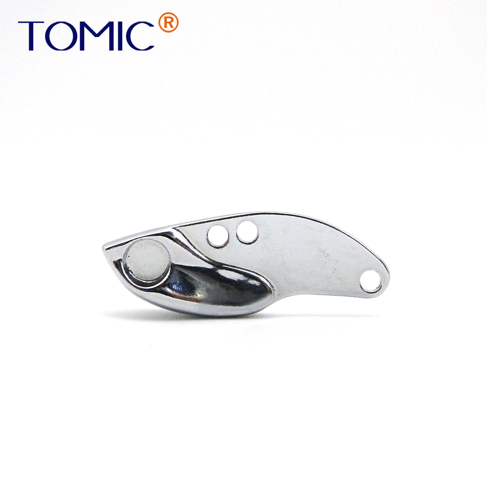 Tomic 30pieces 2.4g 3.5g 5g <font><b>Blank</b></font> Micro Ultralight Alloy Blades Sinking Jig Spoons Trout Fishing <font><b>Lure</b></font> Vibration VIBs image