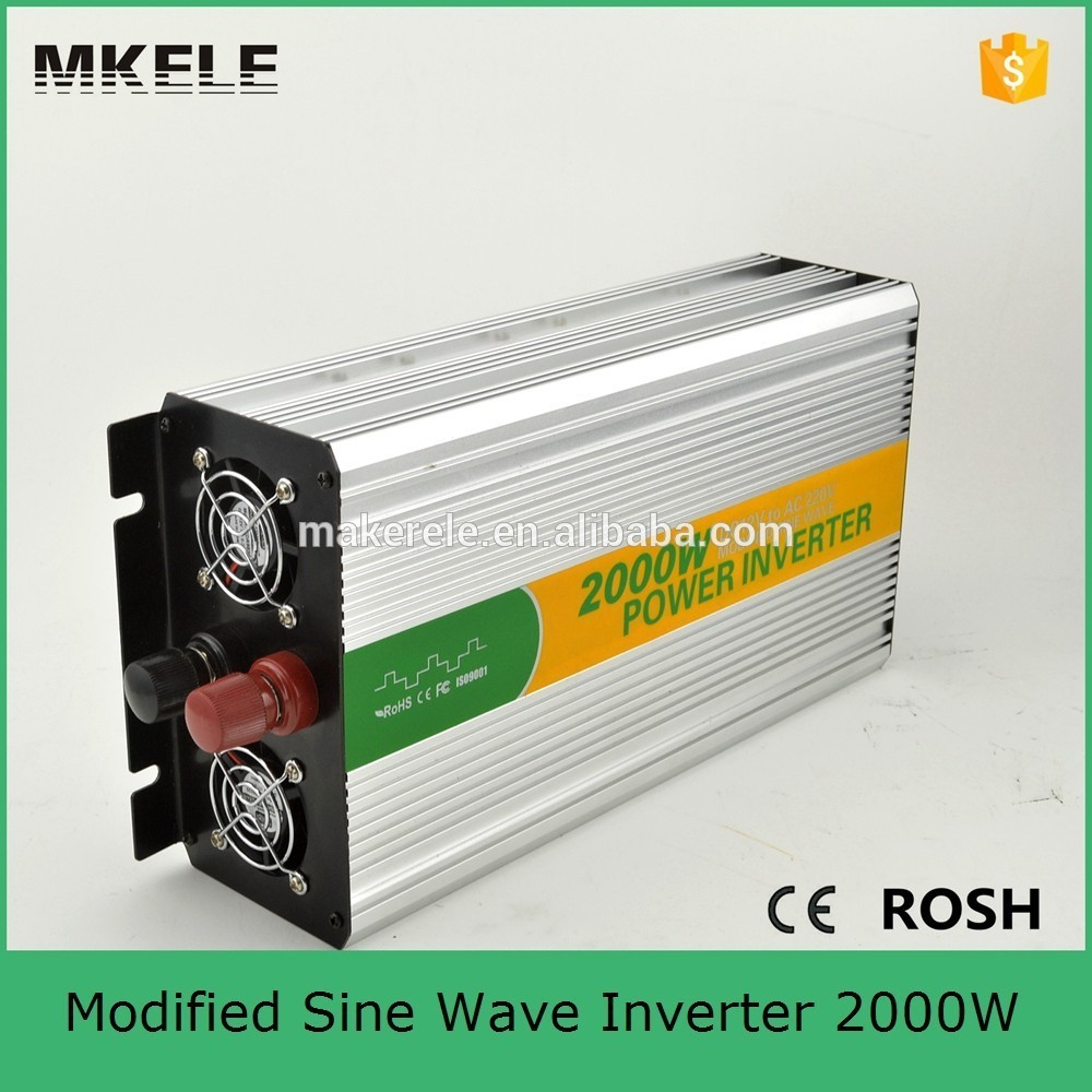 MKM2000-122G convert modified sine 12v 220/230v power inverter 2000w tbe inverter with inverter fan built-in the fuse