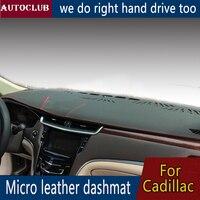 For Cadillac ATS CT6 CTS XTS XT5 SLS SRX Leather Dashmat Dashboard Cover Pad Dash Mat Sunshade carpet 2013 2014 2015  2017 2018