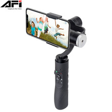 AFI V3 3-Axis Gimball Dslr Stabilizer For Phone Handheld Smartphone Gimbal For Iphone X 8Plus 8 7 Samsung S9 S8 & Action Camera steady gimbal handle stabilizer for smartphone aibird uoplay 3 axis handheld wireless rc phone sport action camera