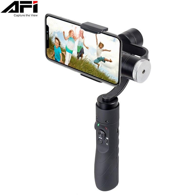 AFI V3 3-Axe Gimball Dslr Stabilisateur Pour Téléphone De Poche Smartphone Cardan Pour Iphone X 8 Plus 8 7 samsung S9 S8 & Action Caméra