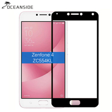 2Pcs  For Asus Zenfone 4 Max ZC554KL Full Cover Tempered Glass Screen Protector 2.5d Safety Film on Zenfone4 Zc554 Zc 554KL