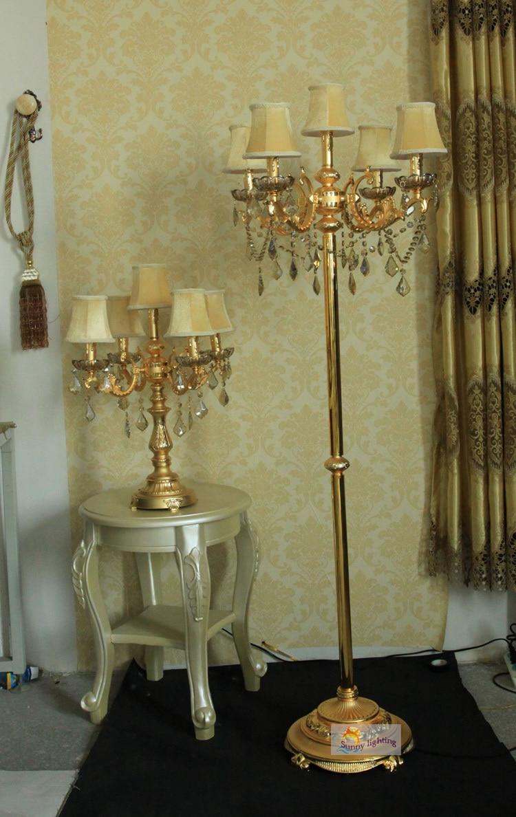 Gold Antike Stehlampe Schlafzimmer Gold Vintage Kristall