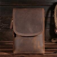 Hot Sale New Men S Waist Bag Genuine Crazy Horse Leather Hip Belt Bum Pack Loops