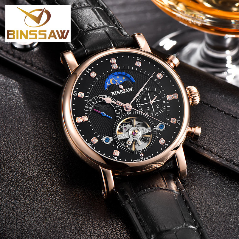 BINSSAW Classic Men's Watches Dress Business Fashion Relojes - Relojes para hombres