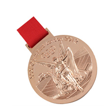 Wholesale Custom medals Antique Gold/Silver/Bronze Metal Medal with  medal Ribbon k200193