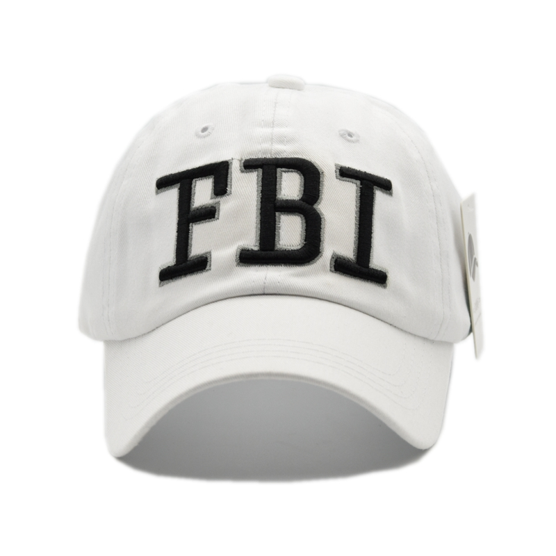 9c26808f7875 BHESD 2017 FBI Embroidery White Fitted Hat Men Snapback Cotton Baseball Cap  Wome Male Casual Dad Hat Bone Casquette Gorro JY 311-in Baseball Caps from  ...