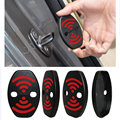 DIY Lock Sticker Car Door Lock Cover Fit For Nissan Maxima LEAF 370Z GT-R JUKE Pathfinder Armada Quest Note Combi 4 pcs Per Set
