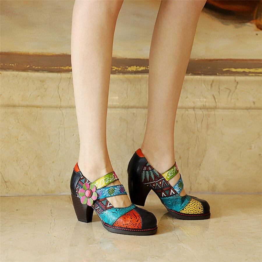Mary Jane sandales femmes véritable leatehr été oxford chaussures femme chaussures gladiateur oxfords sandales à talons hauts pour femmes 2019 bleu