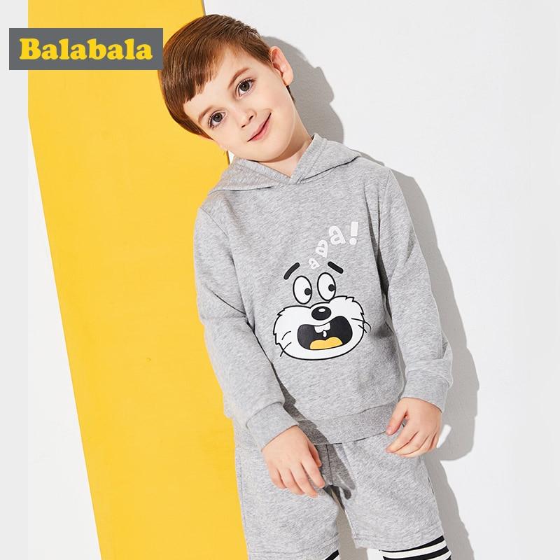 Balabala комплект одежды для мальчиков милые животные аппликация для малышей весенняя одежда для мальчиков Одежда для мальчиков с длинными рукавами 2018 Enfant одежда