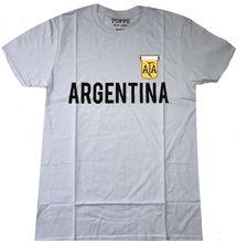 Argentina - Official Toffs Mens Retro Football (Soccer) T Shirt 3D Men Hot Cheap Short Sleeve Male T-shirt