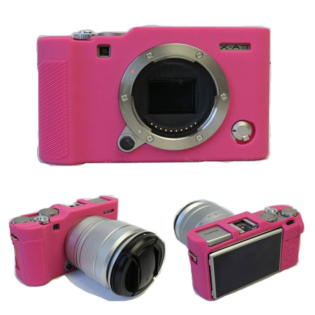 Black Grey Pink Green New Silicone Camera Case Cover For Fuji